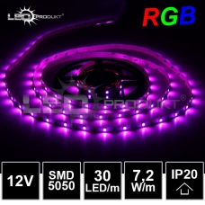 LED pásek SMD5050 RGB 30LED/m, IP20,12V