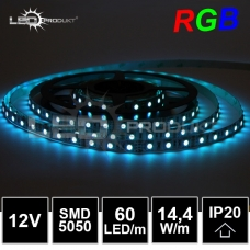 LED pásek SMD5050 RGB 60LED/m, IP20,12V